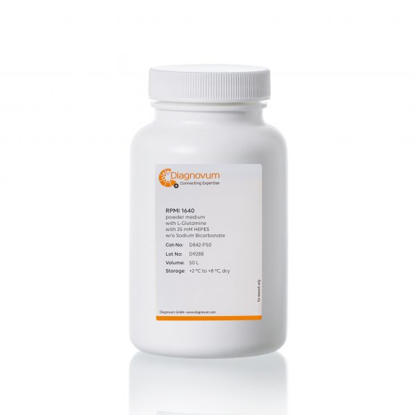 RPMI 1640, with L-Glutamine, powder medium